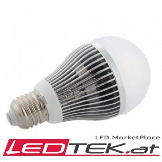 9W E27-LED-Lampe Weiss